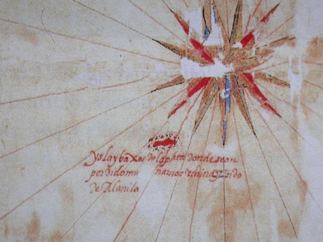 1626年Pedro de Vera所繪艾爾摩莎與中  國東南海岸圖的東沙島局部圖.JPG