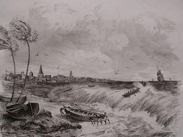 接駁小艇在風浪中的古版畫.JPG