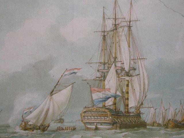 接駁小艇往來荷蘭大船與快艇之間.JPG