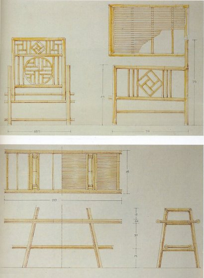 顏水龍的家具設計圖。輯自《蘭嶼‧裝飾‧顏水龍》,頁79。
