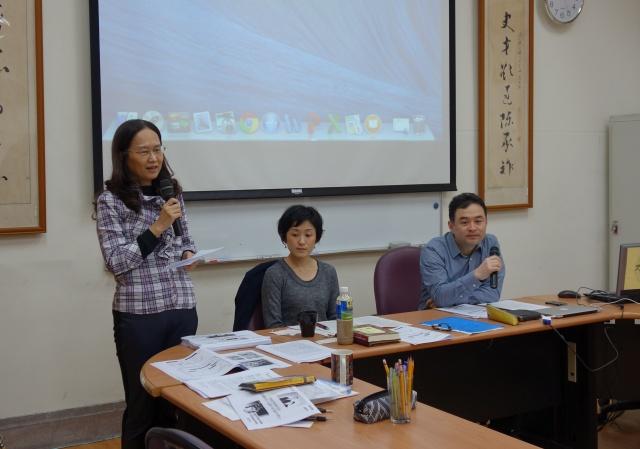 周婉窈老師(左)代表甘懷真主任致歡迎詞。(楊霈琳拍攝)