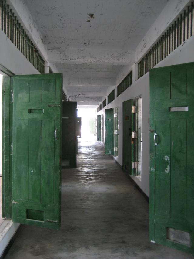 曾經禁錮無數島嶼菁英的牢門。(2010年7月15日)